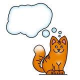 Cat dreaming Stock Image