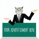 Cat dressed up in a suit. Stock Image
