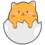 Cat Egg gialla Immagini Stock Libere da Diritti