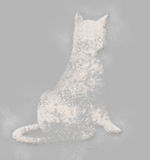 Cat. Elegant cat done  from  flour  in  a minimal style Stock Photos