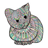 Cat with embroidery decoration Royalty Free Stock Photo