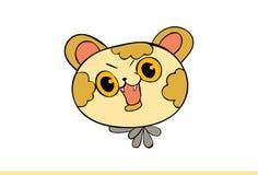 Cat Emoji Cheerful gialla sveglia illustrazione vettoriale