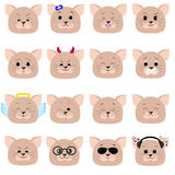 Cat emoticon, cat face set. Stock Photography