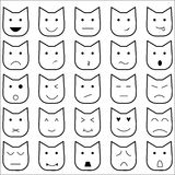 Cat emoticon15 style Royalty Free Stock Images