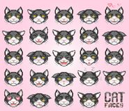 Cat emoticon, vector Royalty Free Stock Photo