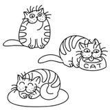 Cat Emoticons Set Ilustración aislada del vector Foto de archivo