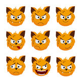 Cat emoticons Stock Images