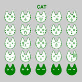 Cat emotions set Stock Photo