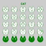 Cat emotions set Stock Photo