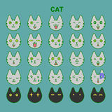 Cat emotions set Stock Images