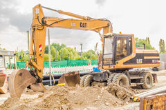 Cat excavator Stock Images