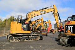 Cat Excavator e attrezzatura per l'edilizia Immagine Stock Libera da Diritti