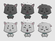Cat Expressions Set Royalty Free Stock Images