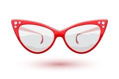 Cat eye red glasses illustration Royalty Free Stock Photo