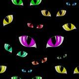 Cat Eye Seamless Texture Stock Photography