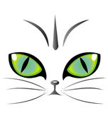 Cat eyes logo vector. Cat green eyes creative design  vector eps10 Stock Images