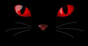 Cat Eyes. Illustration of red eyes in the dark Royalty Free Stock Photography