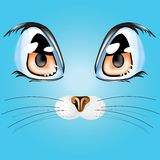 Cat eyes. Vector illustration with cat`s eyes Royalty Free Stock Image