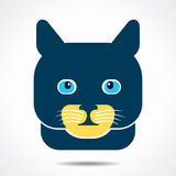 Cat face icon illustration Royalty Free Stock Images