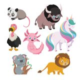 Collection of various animals. Collection of various cute animals vector illustration