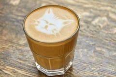 Cat face latte art. Stock Photo