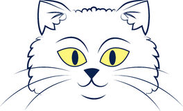 Cat Face Outline Royalty Free Stock Photo