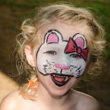 Cat face painting Stock Photography