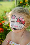 Cat face painting Royalty Free Stock Photo