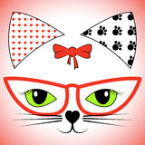 Cat Face Shows Pet Cats och husdjur stock illustrationer