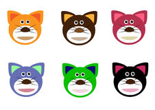 Cat faces Stock Images