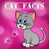 Cat Facts Indicates Details Kitty och husdjur royaltyfri illustrationer