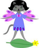 Cat Fairy Vector Royalty Free Stock Photo
