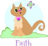 Cat and Faith Royalty Free Stock Photo