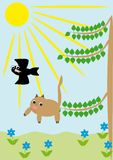 The cat falls from a tree Royalty Free Stock Images