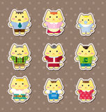 Cat family stickers Stock Image