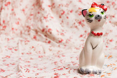 Cat figurine Stock Images