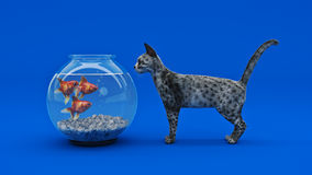 Cat fish. Cat fish concept. 3d rendering Royalty Free Stock Images