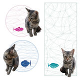 Cat fish decor Royalty Free Stock Images