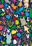 Cat Fish Sea Seamless Pattern_eps Stock Photo