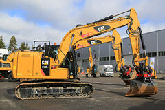 Cat 313FL Hydraulic Excavator Royalty Free Stock Photo