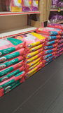Cat Food in borse Immagine Stock