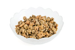 Cat food in a bowl Stock Photography