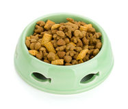 Cat food in a bowl Stock Images