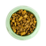 Cat food in a bowl. Above view Royalty Free Stock Photos