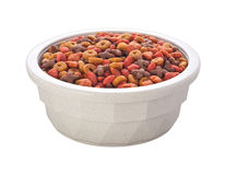 Cat Food Bowl (with clipping path) Stock Photos