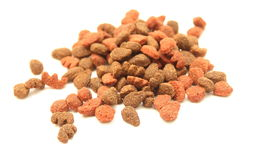 Cat food close-up isolated on white background Royalty Free Stock Photos
