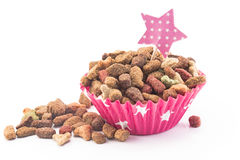 Cat food in the form of a cupcake Stock Photo