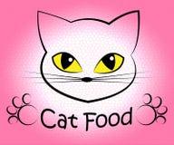 Cat Food Indicates Feline Eating y cocina libre illustration