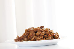 Cat food on plate Royalty Free Stock Photo