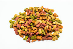 Cat food on a white background.  Royalty Free Stock Photos